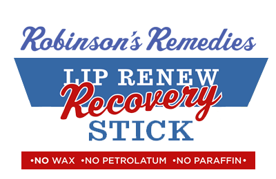 Robinson's Remedies Lip Renew Recovery Stick - No Wax - No Petrolatum - No Paraffin