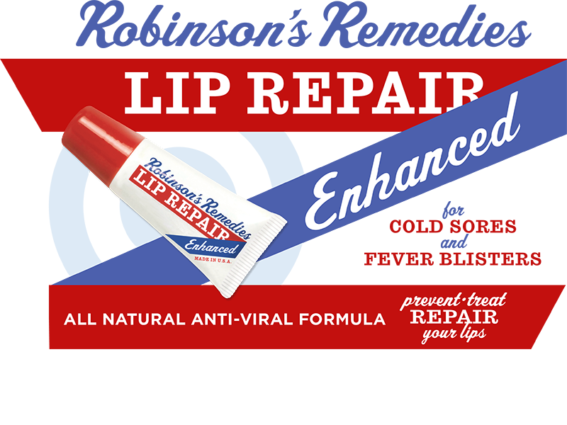 Robinson's Remedies Lip Repair Enhanced - Prevents & Treats Cold Sores - All Natural Anti-Viral Formula