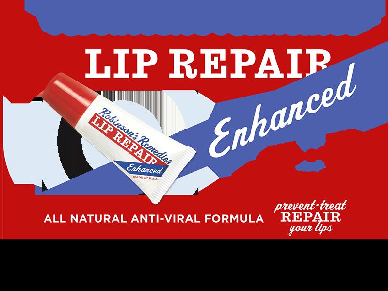 Robinson's Remedies Lip Repair Enhanced - Prevents & Treats Cold Sores - All Natural Anti-Viral Formula